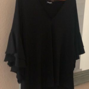 Express Tops - 🖤🖤Express, Ruffled Sleeve Blouse, Size Large🖤🖤